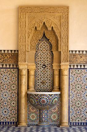 Waschbecken mit orientalischem Mosaik