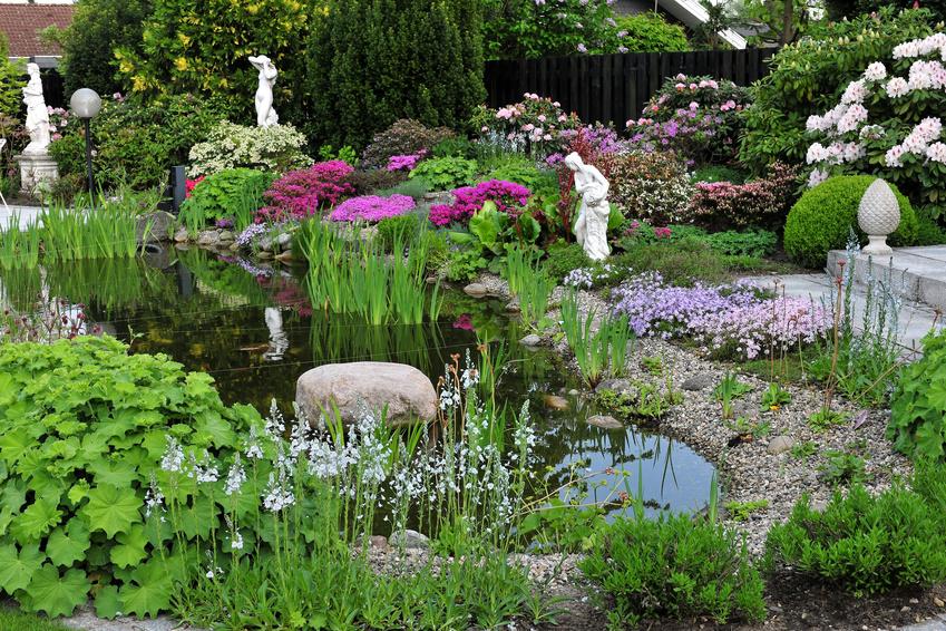 Romantischer Gartenteich
