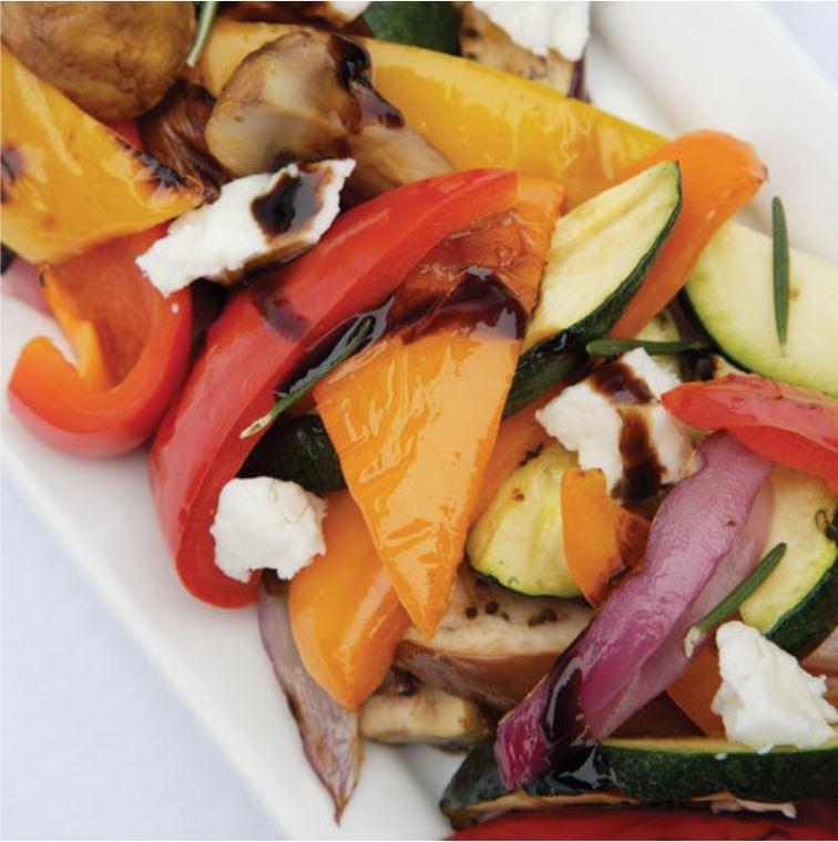 Salat vom Grillgemüse