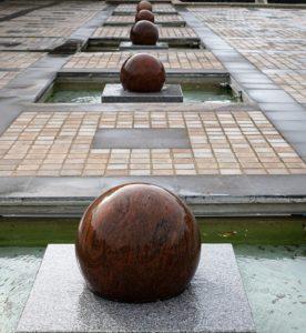 Granitbrunnen Wasserspiel