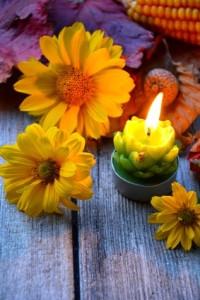Kerze in Tischdeko