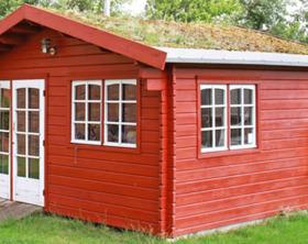 Gartenhaus und Geraetehaus