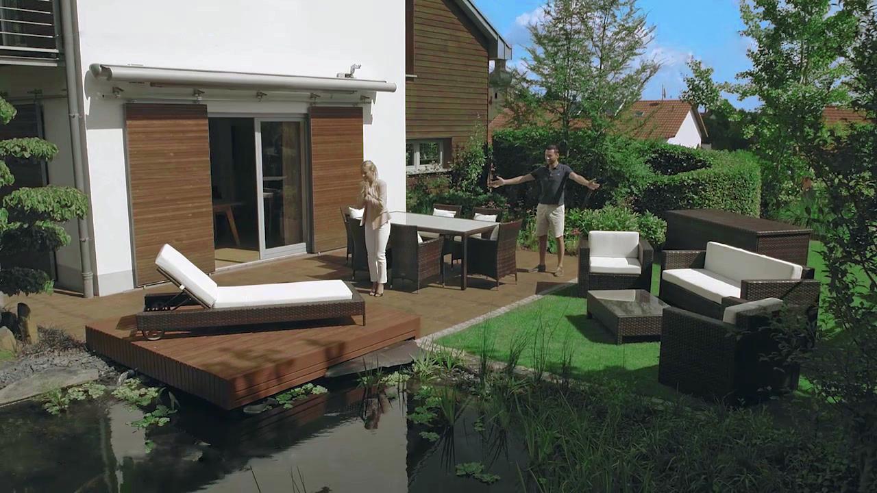 Loungemöbel im Garten